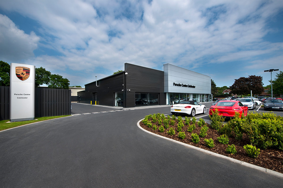 Porsche Centre, Colchester - Automotive Construction - Horizon Construction Group