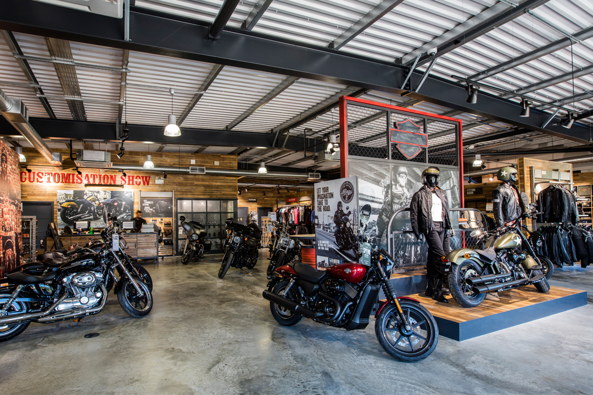 Harley Davidson Showroom - Commercial Construction - Horizon Construction