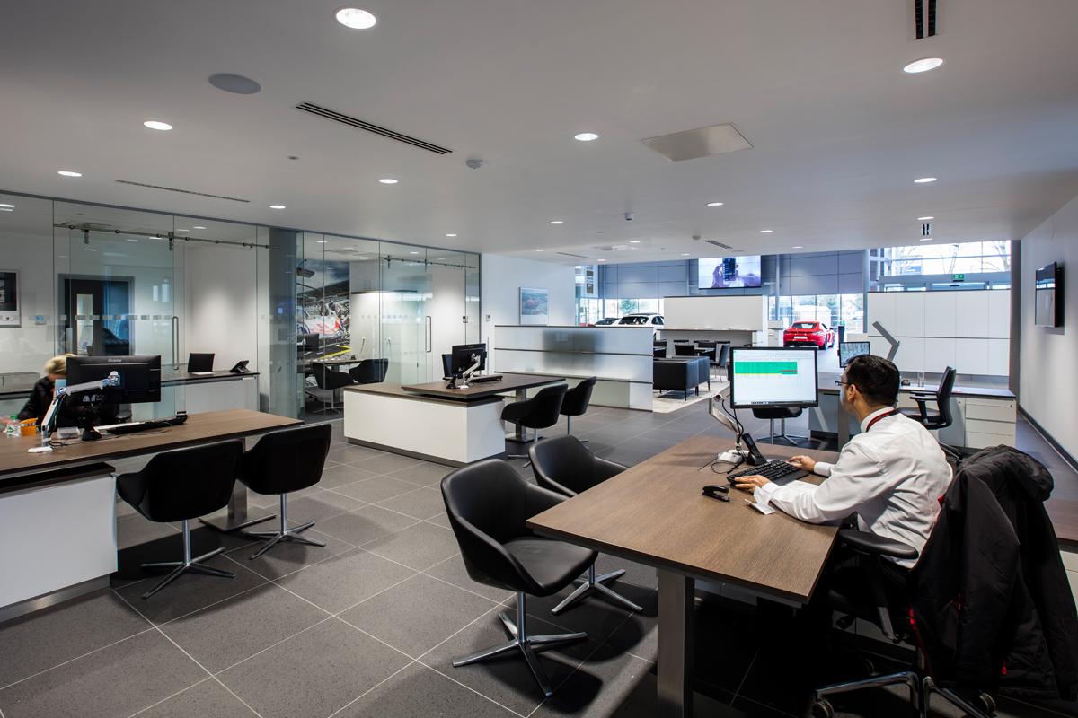 Porsche Dealership, London - Automotive Construction - Horizon Construction
