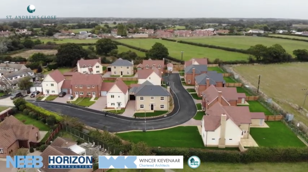 Drone video of Weeley, Essex - Residential Construction