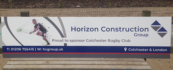 Sponsor of Colchester Rugby Club