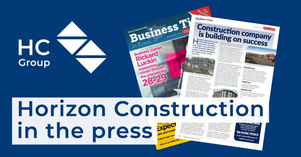 Horizon Construction in the press - Business Time in Essex
