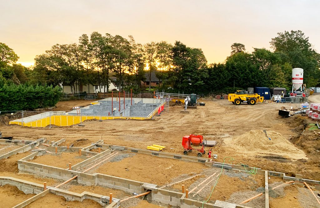 Construction Site of Woodbridge Care Home, Suffolk