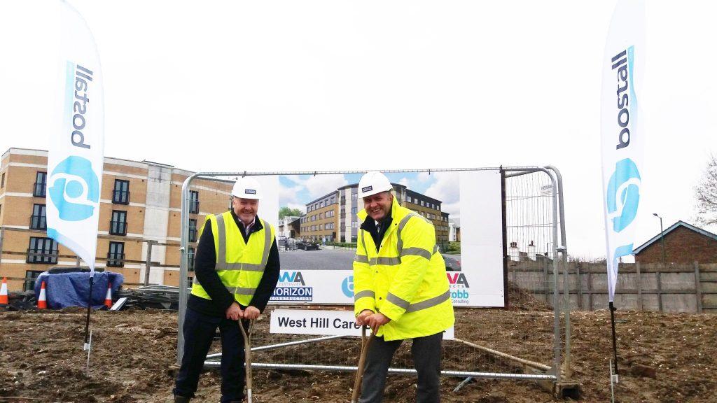 West Hill Care Home, Dartford - Breaking Ground Photo
