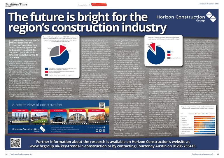 The future is bright for the regions construction industry - Business Time in Essex