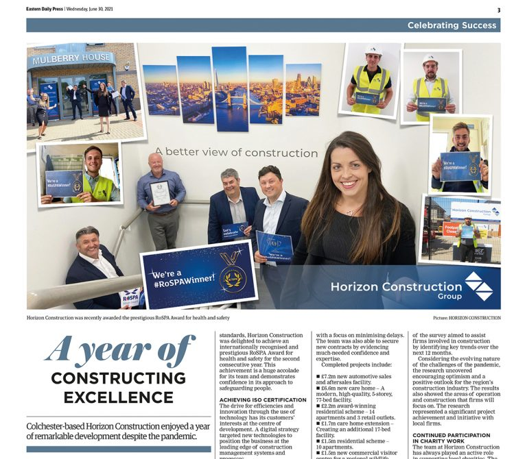 'A Year of Constructing Excellence' Article