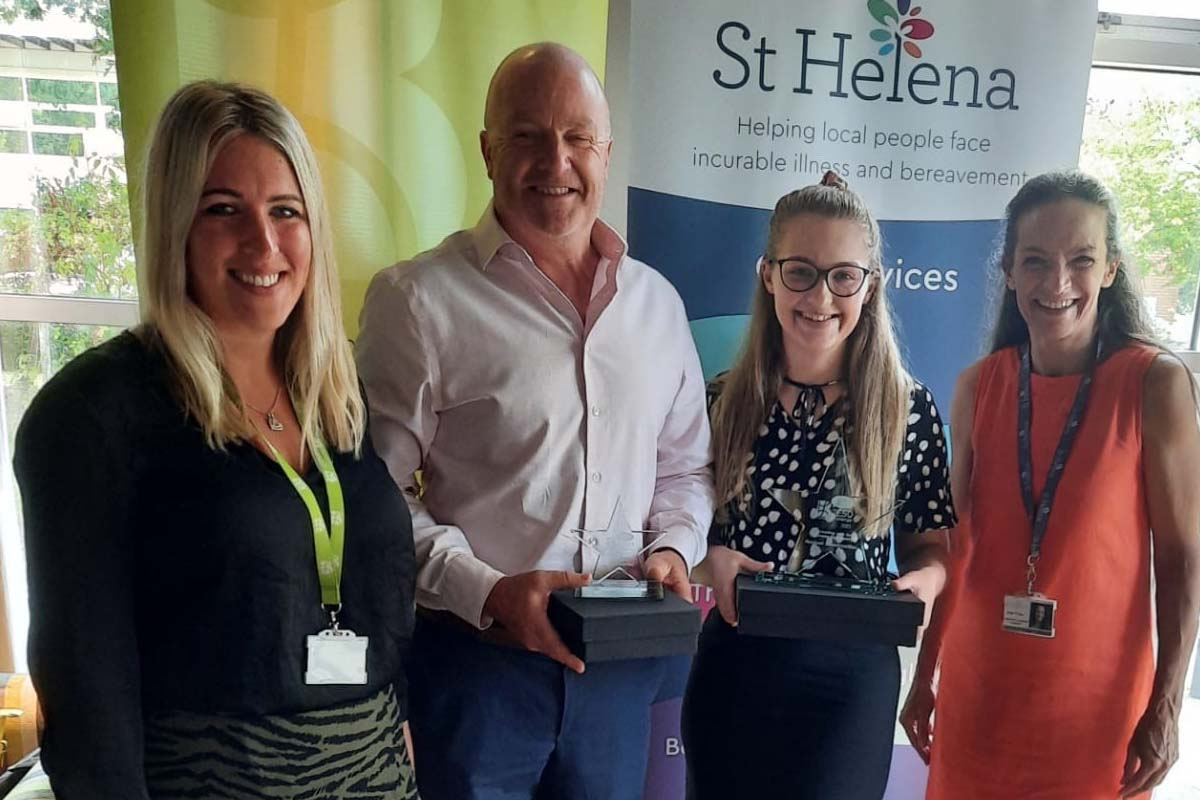 Read more about the article St Helena Hospice Award for 'Connecting with the Business Community'
